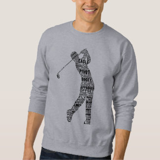 ゴルファーのゴルフタイポグラフィのスエットシャツ スウェットシャツ