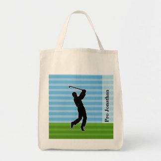 """ゴルファーのシルエットは""""加えますあなたの一流を"""" トートバッグ"""