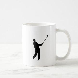 ゴルファーのシルエット コーヒーマグカップ