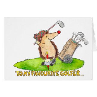 ゴルファーのハッピーバースデーの挨拶状 カード