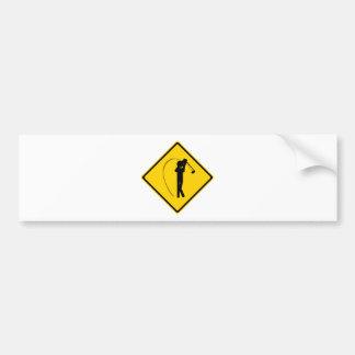 ゴルファーの交通標識 バンパーステッカー