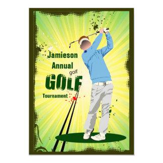 ゴルファーの振動ゴルフクラブゴルフトーナメントの招待状 カード