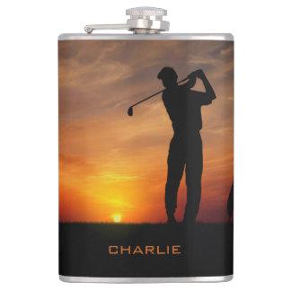 ゴルファーの日没の名前をカスタムするのフラスコ フラスク