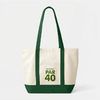 ゴルファーの第40誕生会のトート トートバッグ