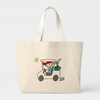 ゴルフカートのバッグの運転 ラージトートバッグ