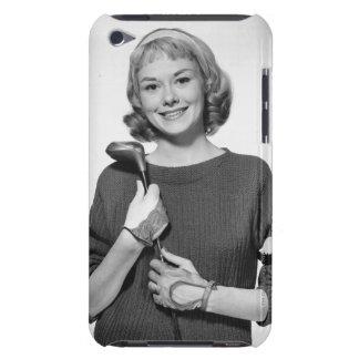 ゴルフクラブを握っている女性 Case-Mate iPod TOUCH ケース