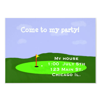 ゴルフコースのパーティの招待状 カード