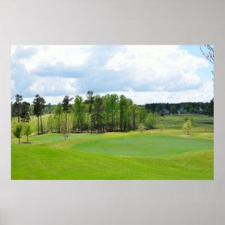 ゴルフコースのフェアウェイ ポスター