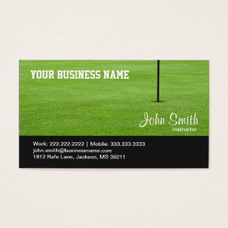 ゴルフコースの緑の名刺 名刺