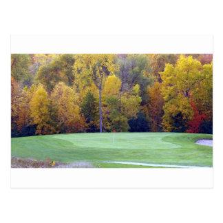 ゴルフコース ポストカード