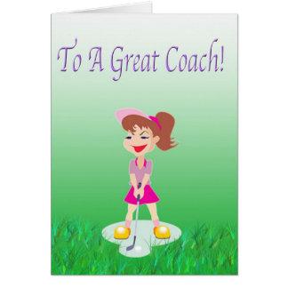ゴルフコーチのサンキューカード グリーティングカード