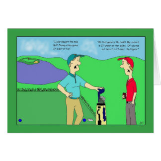 ゴルフチャンピオンのビデオゲームのバースデー・カード カード