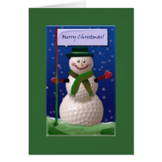 ゴルフナットのためのゴルフ・ボールの雪だるま カード