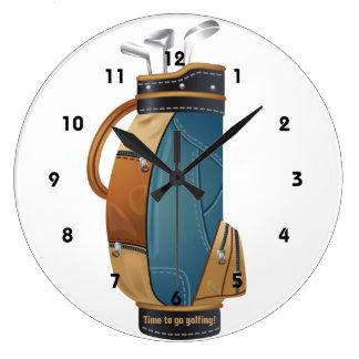 ゴルフバッグのデザインの柱時計 ラージ壁時計