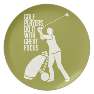 ゴルフプレーヤーのカスタムなプレート パーティー皿
