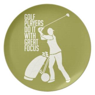 ゴルフプレーヤーのカスタムなプレート プレート