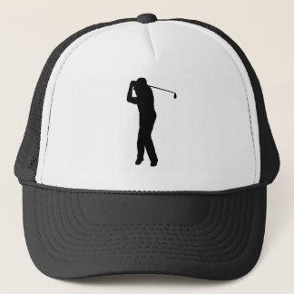 ゴルフプレーヤーのシルエットの帽子、ギフトのアイディア キャップ