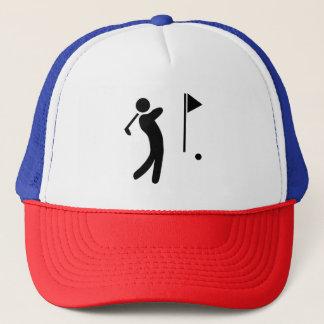 ゴルフプレーヤーのシルエット キャップ