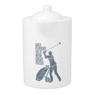 ゴルフプレーヤーのティーポット