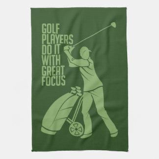 ゴルフプレーヤーカスタムな手タオル キッチンタオル