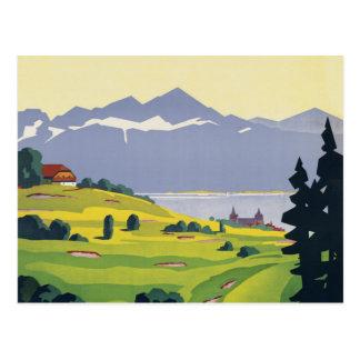 ゴルフローザンヌスイス連邦共和国 ポストカード