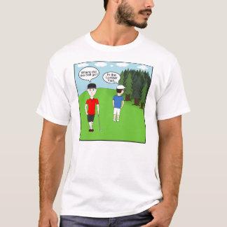ゴルフ冗談の材木置き場 Tシャツ
