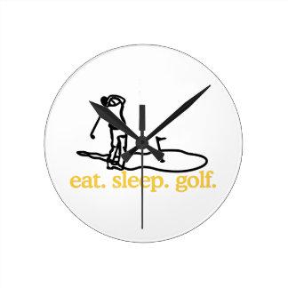 ゴルフ場面 ラウンド壁時計