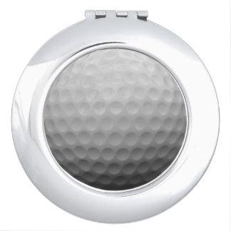 ゴルフ女性ファンのギフトのアイディアの写真のコンパクトの鏡