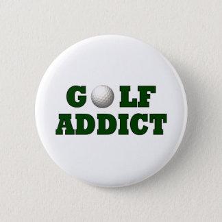 ゴルフ常習者 5.7CM 丸型バッジ
