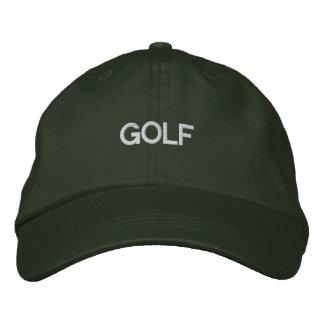 ゴルフ帽子 刺繍入りキャップ