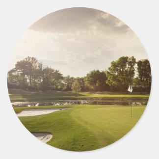 ゴルフ穴 ラウンドシール