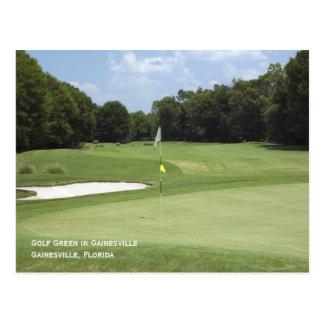 ゴルフ緑の郵便はがき ポストカード