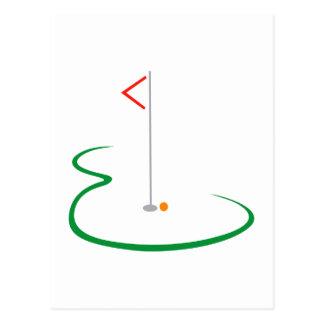 ゴルフ緑 ポストカード