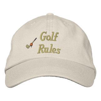 ゴルフ規則は帽子を刺繍しました 刺繍入りキャップ