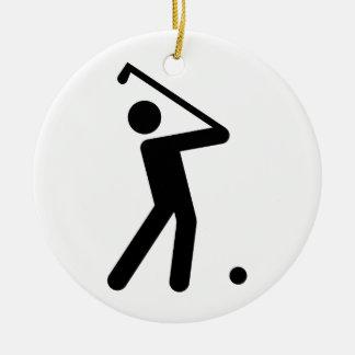 ゴルフ記号のオーナメント セラミックオーナメント