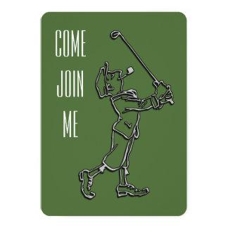 ゴルフ誕生日のパーティの招待状 カード