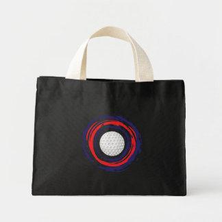 ゴルフ赤い青および白い ミニトートバッグ