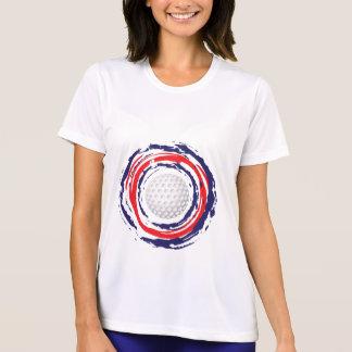 ゴルフ赤い青および白い Tシャツ