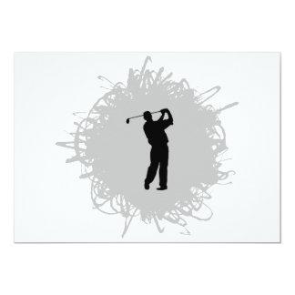 ゴルフ走り書きのスタイル カード