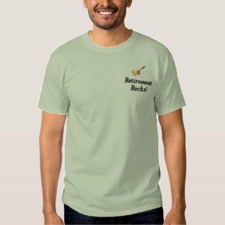 ゴルフ退職によって刺繍されるワイシャツ 刺繍入りTシャツ