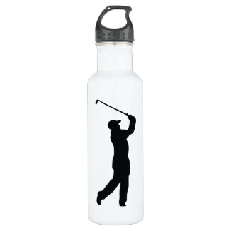ゴルフ黒いシルエットの影 ウォーターボトル