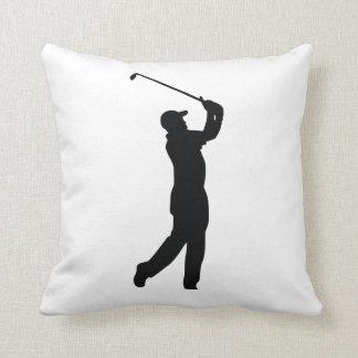 ゴルフ黒いシルエットの影 クッション