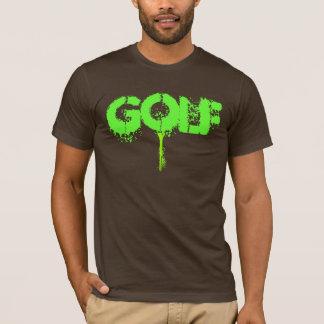 ゴルフ(ばちゃばちゃ)跳ねる Tシャツ