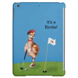 ゴルフ、カスタマイズ可能な文字を遊んでいるユーモアのあるな鳥