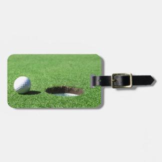 ゴルフ・ボールおよび穴 ラゲッジタグ