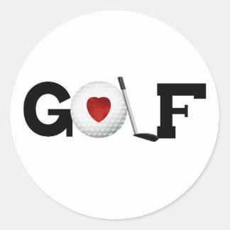 ゴルフ・ボールとのゴルフ ラウンドシール