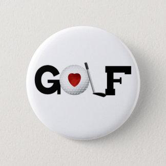ゴルフ・ボールとのゴルフ 5.7CM 丸型バッジ