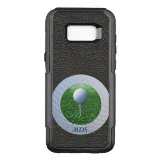 ゴルフ・ボールのオッターボックスの写真フレームのモノグラム オッターボックスコミューターSamsung GALAXY S8+ ケース