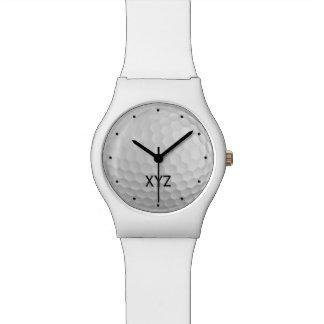 ゴルフ・ボールのカスタムなモノグラムの腕時計 腕時計
