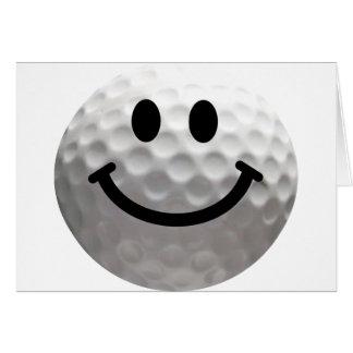 ゴルフ・ボールのスマイリー カード